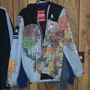 Supreme x north face  world map jacket